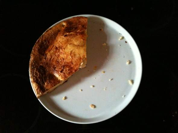 Eiweiß Kuchen war lecker :-) © MoreMuscles.de