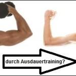Muskelabbau durch Ausdauertraining beim Muskelaufbau?